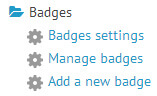 Online Documentation - LMS (learning management system)-ScholarLMS site badge new badge menu