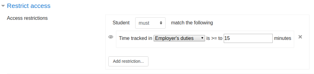 Time Tracker restrict access